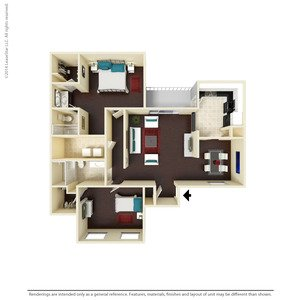 2 Bedrooms 2 Bathrooms Apartment for rent at The Aria in Arlington, TX