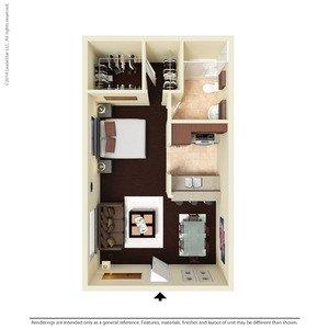 1 Bedroom 1 Bathroom Apartment for rent at Ventura Apartments in Arlington, TX