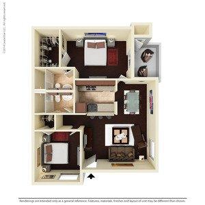 2 Bedrooms 2 Bathrooms Apartment for rent at Ventura Apartments in Arlington, TX