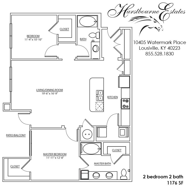 2 Bedrooms 2 Bathrooms Apartment for rent at Hurstbourne Estates in Louisville, KY