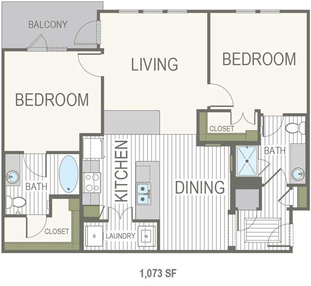 2 Bedrooms 2 Bathrooms Apartment for rent at Belleza At Cresta Bella in San Antonio, TX