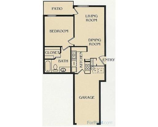 1 Bedroom 1 Bathroom Apartment for rent at Park At Walker's Ranch in San Antonio, TX