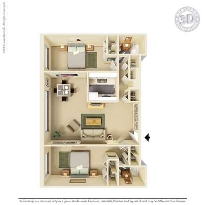 2 Bedrooms 2 Bathrooms Apartment for rent at Dayton Towers in Dayton, OH