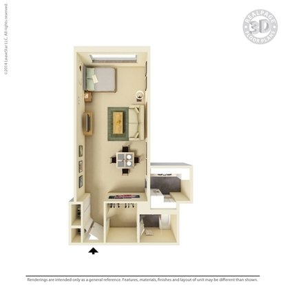 Studio 1 Bathroom Apartment for rent at Dayton Towers in Dayton, OH