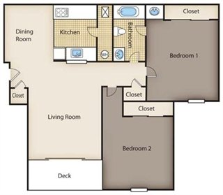 2 Bedrooms 1 Bathroom Apartment for rent at Timber Ridge Apartments in Riverside, OH