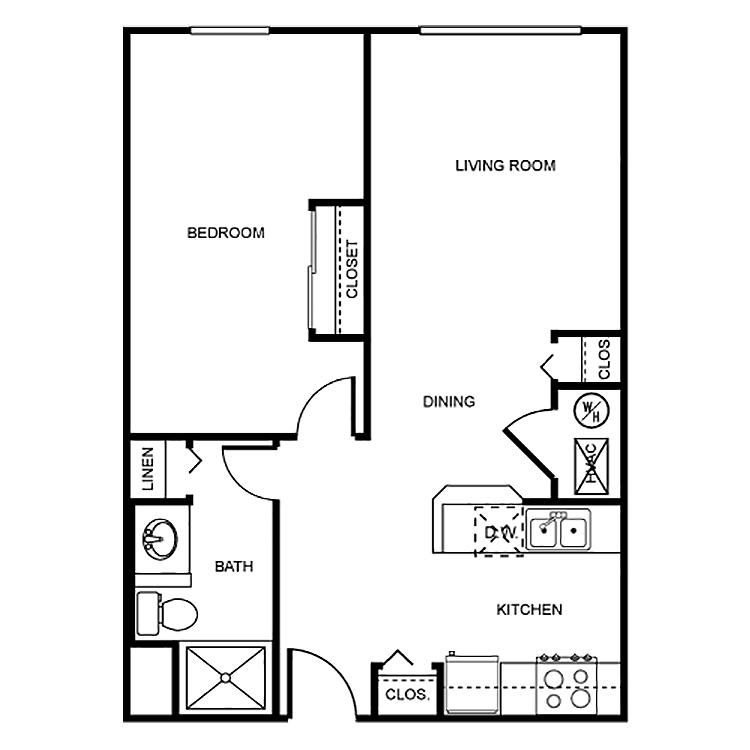 1 Bedroom 1 Bathroom Apartment for rent at Grand Place in Dayton, OH