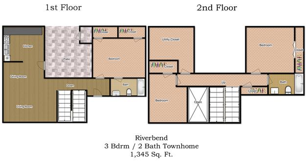3 Bedrooms 2 Bathrooms Apartment for rent at Riverbend Apartments in Arlington, TX