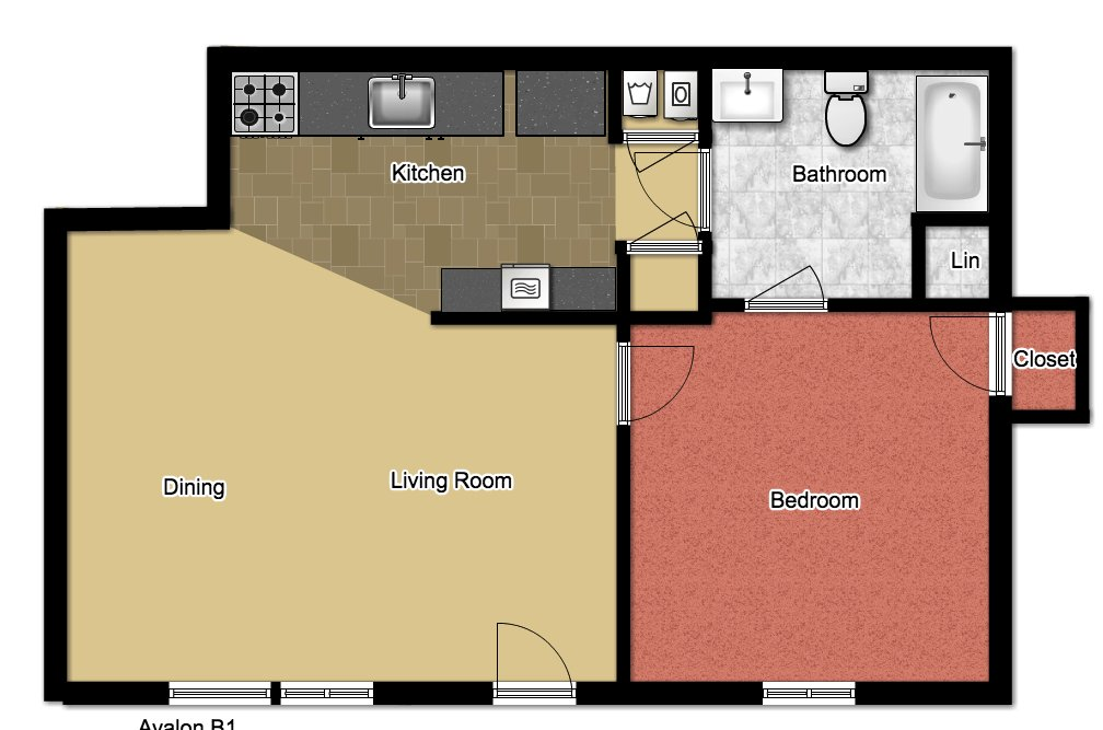 1 Bedroom 1 Bathroom Apartment for rent at Avalon in Norman, OK