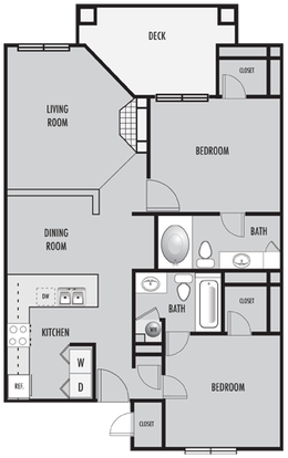 2 Bedrooms 2 Bathrooms Apartment for rent at Sterling Place Apartments in Columbus, OH