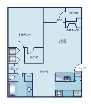 1 Bedroom 1 Bathroom Apartment for rent at La Jolla On Meadow Brook in Fort Worth, TX