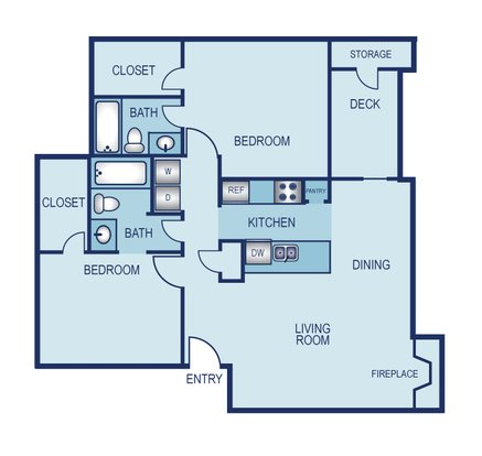 2 Bedrooms 2 Bathrooms Apartment for rent at La Jolla On Meadow Brook in Fort Worth, TX