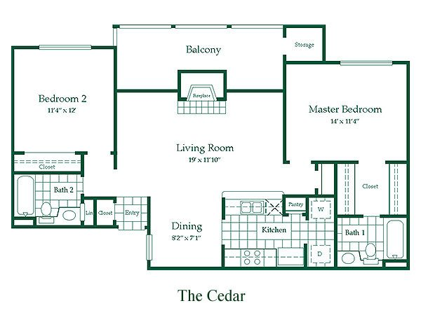 2 Bedrooms 2 Bathrooms Apartment for rent at Hunters Point Apartments in Arlington, TX