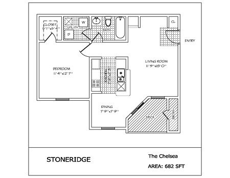 1 Bedroom 1 Bathroom Apartment for rent at Stoneridge in Dayton, OH