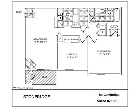 2 Bedrooms 1 Bathroom Apartment for rent at Stoneridge in Dayton, OH