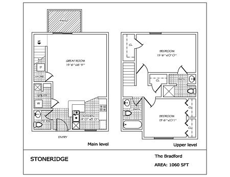 2 Bedrooms 3 Bathrooms Apartment for rent at Stoneridge in Dayton, OH