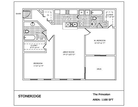 2 Bedrooms 2 Bathrooms Apartment for rent at Stoneridge in Dayton, OH