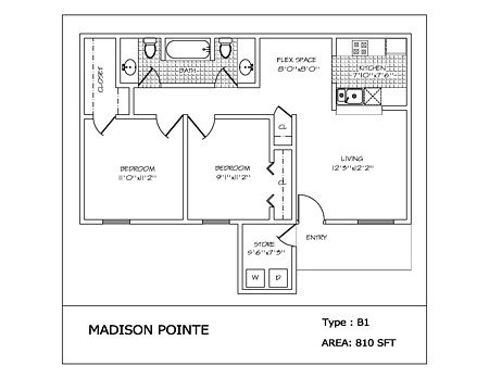 2 Bedrooms 2 Bathrooms Apartment for rent at Madison Pointe in College Station, TX