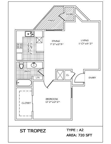 1 Bedroom 1 Bathroom Apartment for rent at 4000 Horizon Hill in San Antonio, TX