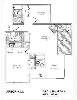 2 Bedrooms 2 Bathrooms Apartment for rent at Arbor Hill in San Antonio, TX