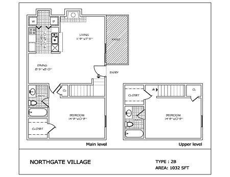 2 Bedrooms 2 Bathrooms Apartment for rent at Northgate Village in San Antonio, TX