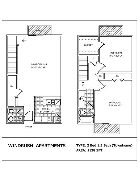 2 Bedrooms 2 Bathrooms Apartment for rent at Windrush in San Antonio, TX