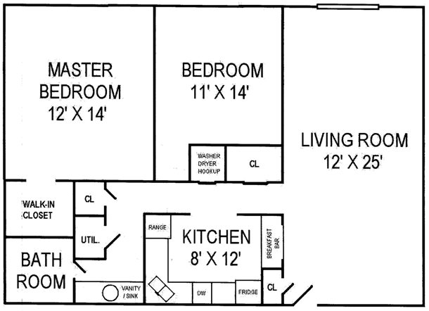 2 Bedrooms 1 Bathroom Apartment for rent at Roscommon Place in Dayton, OH