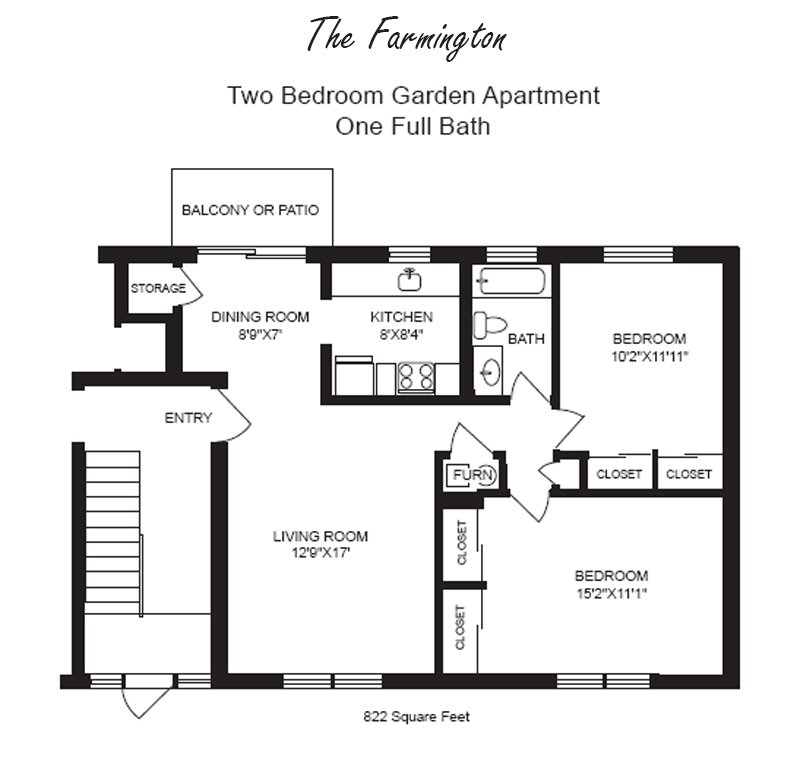 2 Bedrooms 1 Bathroom Apartment for rent at Chatham Village in Kettering, OH