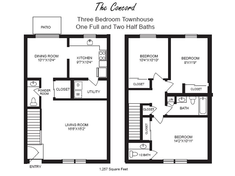 3 Bedrooms 3 Bathrooms Apartment for rent at Chatham Village in Kettering, OH