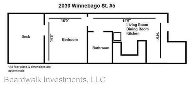 1 Bedroom 1 Bathroom House for rent at 2039 Winnebago St. in Madison, WI