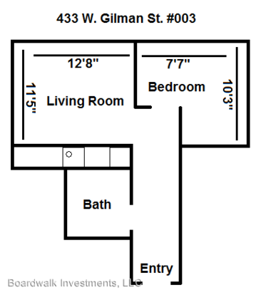 1 Bedroom 1 Bathroom Apartment for rent at 433 W. Gilman St. in Madison, WI