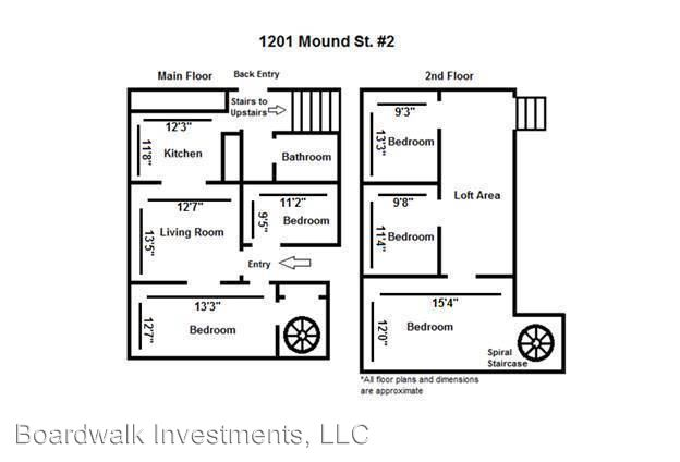 5 Bedrooms 1 Bathroom Apartment for rent at 1201 Mound Street in Madison, WI