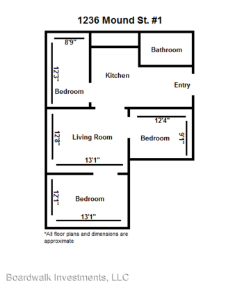 3 Bedrooms 1 Bathroom Apartment for rent at 1236 Mound Street in Madison, WI