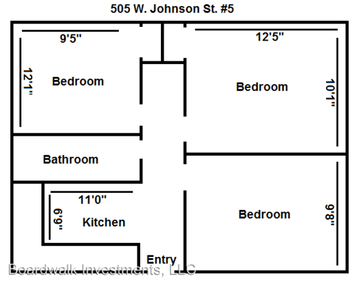 3 Bedrooms 1 Bathroom Apartment for rent at 505 W. Johnson St. in Madison, WI
