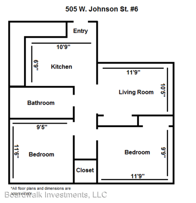 2 Bedrooms 1 Bathroom Apartment for rent at 505 W. Johnson St. in Madison, WI