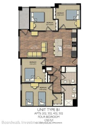 4 Bedrooms 2 Bathrooms Apartment for rent at Park Place in Madison, WI