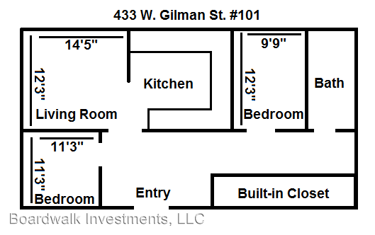 2 Bedrooms 2 Bathrooms Apartment for rent at 433 W. Gilman St. in Madison, WI