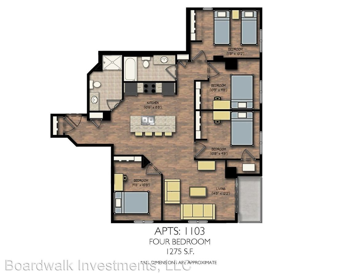 4 Bedrooms 2 Bathrooms Apartment for rent at City View in Madison, WI