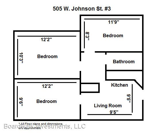 3 Bedrooms 1 Bathroom Apartment for rent at 505 W Johnson St in Madison, WI
