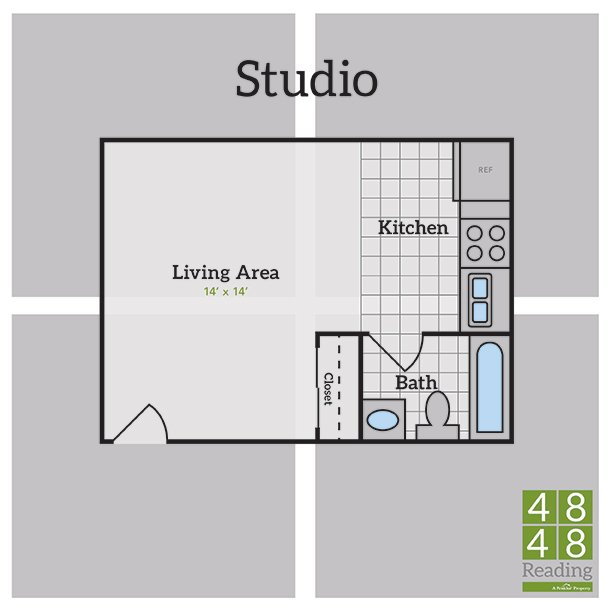 Studio 1 Bathroom Apartment for rent at 4848 Reading in Cincinnati, OH