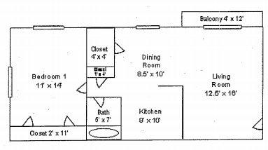 1 Bedroom 1 Bathroom Apartment for rent at Sunset Garden Apartments in Cincinnati, OH