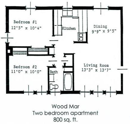 2 Bedrooms 1 Bathroom Apartment for rent at Woodmar in Lansing, MI