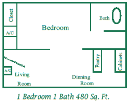 1 Bedroom 1 Bathroom Apartment for rent at Parkside Apartments in San Antonio, TX