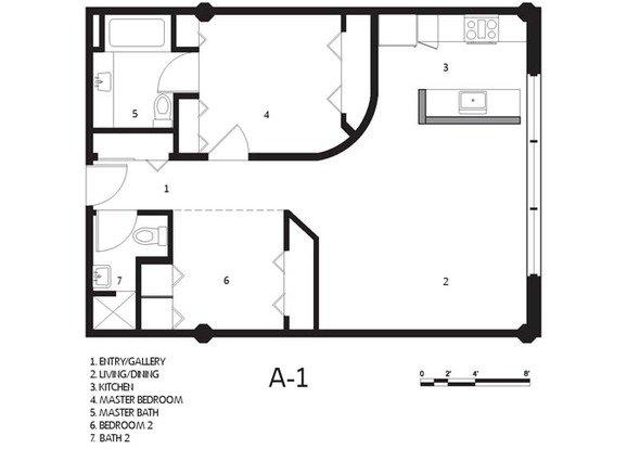 1 Bedroom 1 Bathroom Apartment for rent at Cadillac Lofts in San Antonio, TX