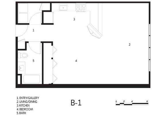 Studio 1 Bathroom Apartment for rent at Cadillac Lofts in San Antonio, TX