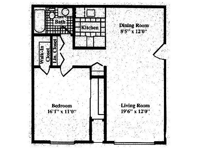 1 Bedroom 1 Bathroom Apartment for rent at Briarcliffe Apartments in Lansing, MI