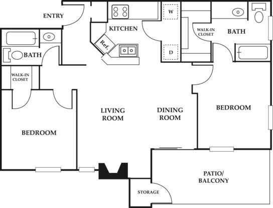 2 Bedrooms 1 Bathroom Apartment for rent at Ventana Apartments in San Antonio, TX