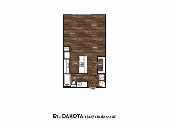 1 Bedroom 1 Bathroom Apartment for rent at 1800 Broadway St in San Antonio, TX