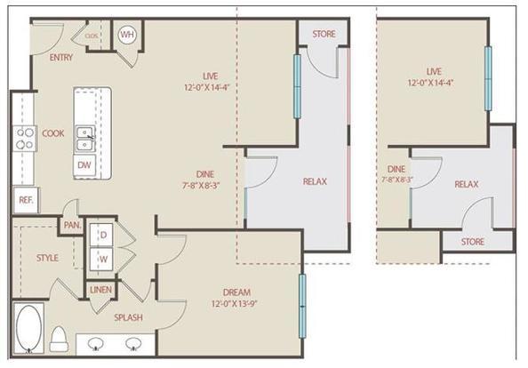 1 Bedroom 1 Bathroom Apartment for rent at Brackenridge At Midtown in San Antonio, TX