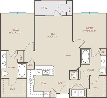2 Bedrooms 2 Bathrooms Apartment for rent at Brackenridge At Midtown in San Antonio, TX