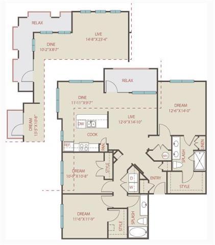 3 Bedrooms 2 Bathrooms Apartment for rent at Brackenridge At Midtown in San Antonio, TX
